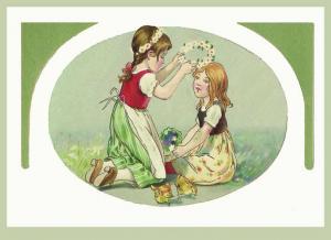 Postkarte Sortiment Glückwunsch geprägt 6Gp033