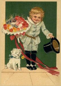 Postkarte Sortiment Glückwunsch geprägt 6Gp049