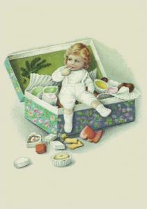 Postkarte Sortiment Weihnachten geprägt 6Wp050
