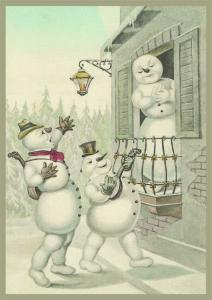 Postkarte Sortiment Weihnachten geprägt 6Wp049