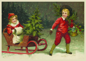 Postkarte Sortiment Weihnachten geprägt 6Wp048