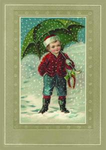 Postkarte Sortiment Weihnachten geprägt 6Wp046