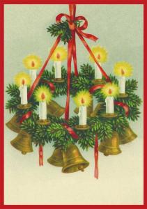 Postkarte Sortiment Weihnachten geprägt 6Wp045