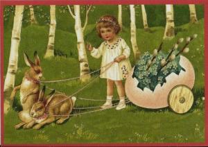 Osterpostkarten Sortiment Glückwunsch beglittert 6Gg059