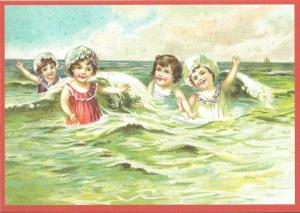Glückwunschpostkarte beglittert 6Gg064