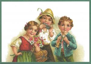 Glückwunschpostkarte beglittert 6Gg065