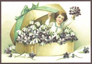 Glückwunschpostkarte beglittert 6Gg060