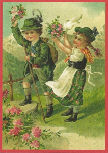 Glückwunschpostkarte beglittert 6Gg066