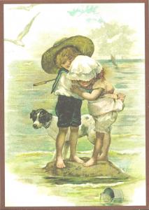 Glückwunschpostkarte beglittert 6Gg061