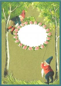 Glückwunschpostkarte beglittert 6Gg062