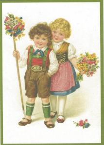Glückwunschpostkarte beglittert 6Gg012