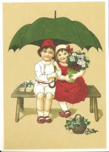 Glückwunschpostkarte beglittert 6G024