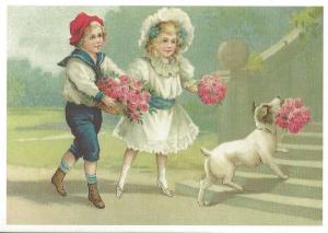 Glückwunschpostkarte beglittert 6Gg030
