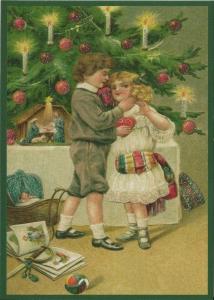 Postkarte Sortiment Weihnachten beglittert 6Wg061