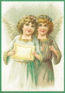 Postkarte Sortiment Weihnachten beglittert 6Wg063