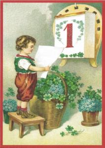 Postkarte Sortiment Weihnachten beglittert 6Wg062