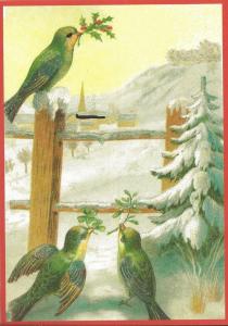 Postkarte Sortiment Weihnachten beglittert 6Wg065