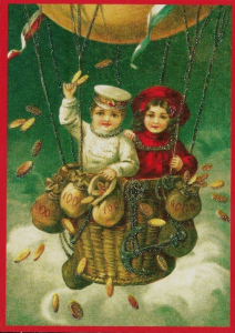 Postkarte Sortiment Weihnachten beglittert 6Wg066
