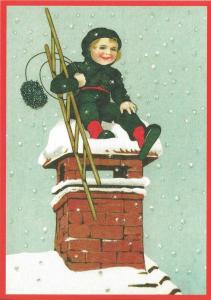 Postkarte Sortiment Weihnachten beglittert 6Wg067
