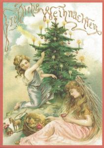 Postkarte Sortiment Weihnachten beglittert 6Wg069
