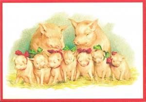 Postkarte Sortiment Weihnachten beglittert 6Wg070