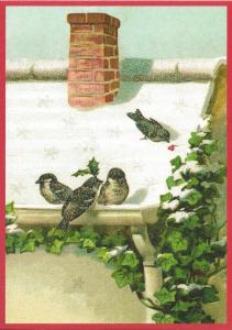 Postkarte Sortiment Weihnachten beglittert 6Wg071
