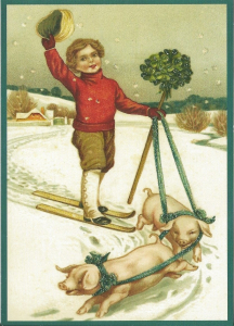 Postkarte Sortiment Weihnachten beglittert 6W0g014