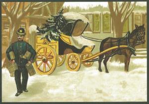 Postkarte Sortiment Weihnachten beglittert 6Wg017