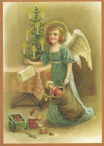 Postkarte Sortiment Weihnachten beglittert 6Wg024