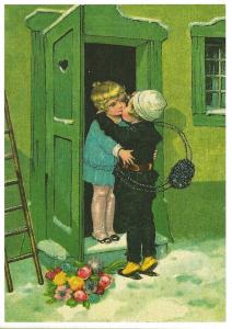Postkarte Sortiment Weihnachten beglittert 6Wg035