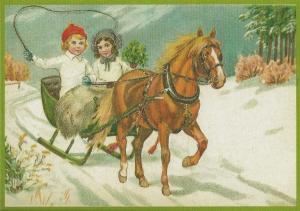 Postkarte Sortiment Weihnachten beglittert 6Wg039