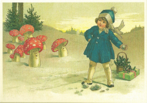 Postkarte Sortiment Weihnachten beglittert 6Wg042