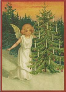 Postkarte Sortiment Weihnachten beglittert 6Wg051
