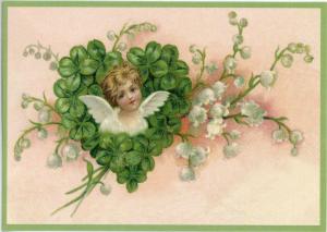 Postkarte Sortiment Weihnachten beglittert 6Wg034