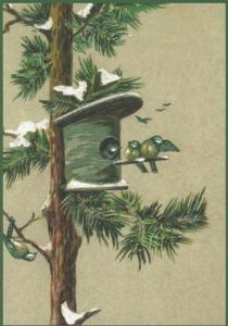 Postkarte Sortiment Weihnachten beglittert 6Wg068