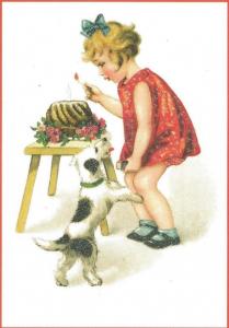 Glückwunschpostkarte beglittert 6Gg050