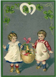 Postkarte Sortiment Weihnachten beglittert 6Wg011
