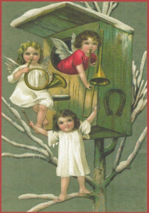 Postkarte Sortiment Weihnachten beglittert 6Wg064