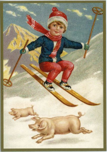 Postkarte Sortiment Weihnachten beglittert 6Wg002