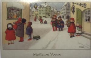Weihnachtskarte F19 (French text)