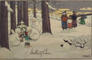 Weihnachtskarte F18 (French text)