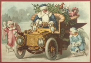 Postkarte Sortiment Weihnachten beglittert 6Wg088