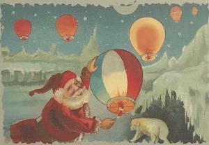 Postkarte Sortiment Weihnachten beglittert 6Wg085
