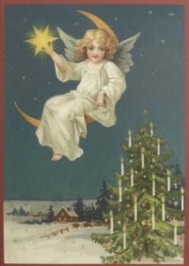 Postkarte Sortiment Weihnachten beglittert 6Wg076