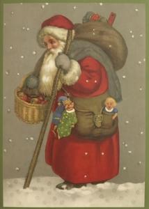 Postkarte Sortiment Weihnachten beglittert 6Wg077