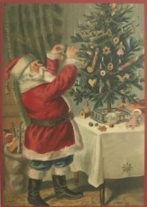 Postkarte Sortiment Weihnachten beglittert 6Wg078