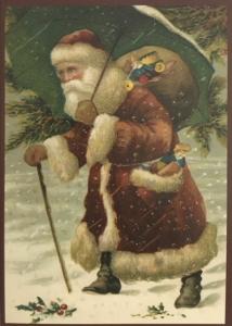 Postkarte Sortiment Weihnachten beglittert 6Wg072