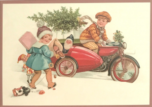 Postkarte Sortiment Weihnachten beglittert 6Wg086