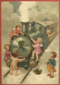 Postkarte Sortiment Weihnachten beglittert 6Wg080