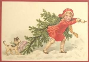 Postkarte Sortiment Weihnachten beglittert 6Wg087